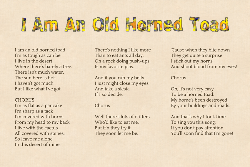 I Am An Old Horned Toad | Children's Book & CD